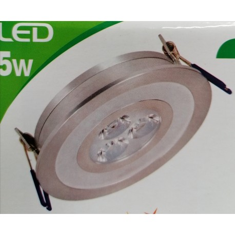 DOWNLIGHT COLOR DECOR 5W CENTRE BLANC FROID ANNEAU BLEU