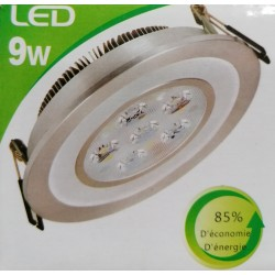SPOT LED COLOR DECOR 9W CENTRE BLANC FROID CONTOUR ANNEAU LED BLEU