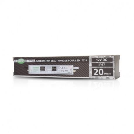 ALIMENTATION ELECTRONIQUE POUR LED 20W - 12V DC