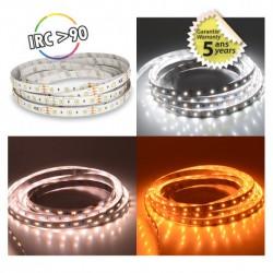 BANDEAU LED DIMMABLE CCT 5 M 120 LED/M 48W IP20 - 12V - GARANTIE 5 ANS
