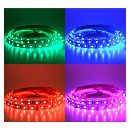 BANDEAU LED RGB 5 M 60 LED/M 72W IP20