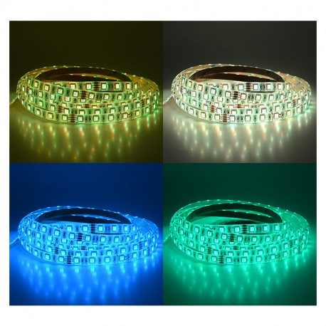BANDEAU LED RGB 5 M 60 LED/M 72W IP65 -24V PU