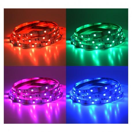 BANDEAU LED 5 M 30 LED/M 36W IP20 12V RGB