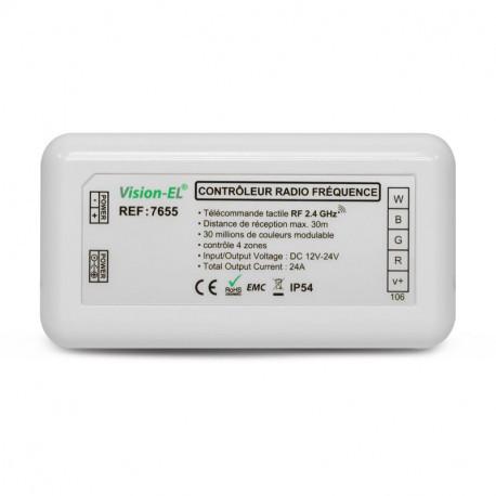 CONTROLEUR RGBW POUR BANDEAUX LED 12V/24V