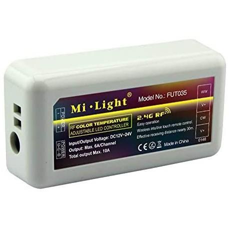 CONTROLEUR BANDEAU LED WW/CW 4 ZONES WIFI 2.4G