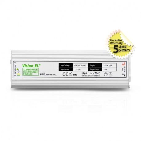 ALIMENTATION ELECTRONIQUE POUR LED 150 WATTS 12V IP67