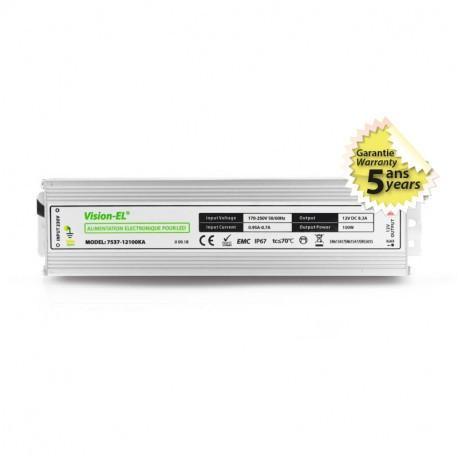 ALIMENTATION ELECTRONIQUE POUR LED 100W 12V DC IP67
